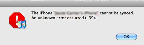 Fix iPhone –39 Sync Error In iTunes - Windows & Mac