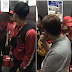 Caption this: That 'awkward' moment when Jollibee, McDonald's, KFC and Pizza Hut delivery boys meet in a lift