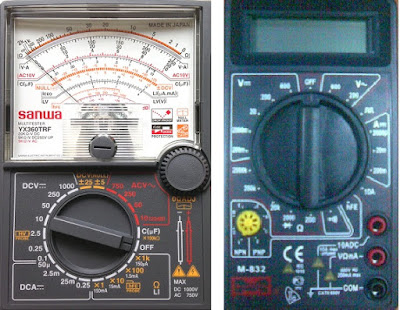 Use and short tricks for digital and analog multimeters