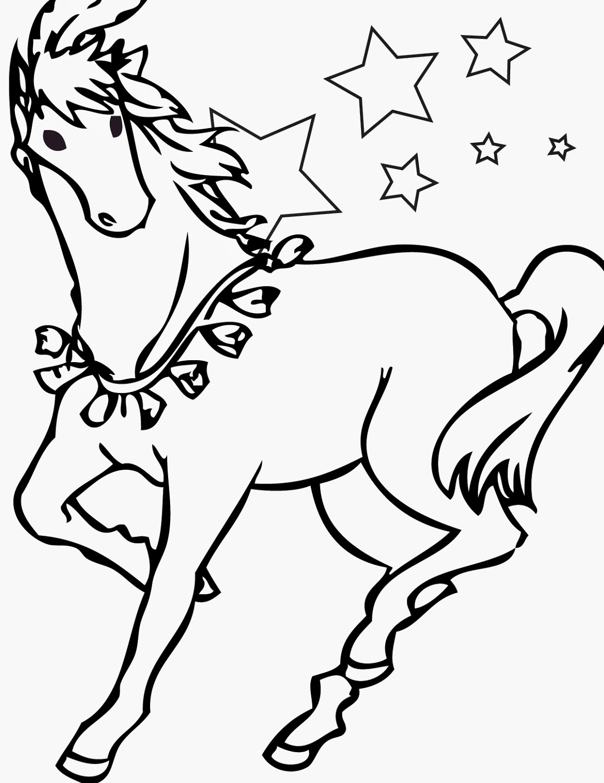 Printable Coloring Pages Horses Printable Coloring Pages