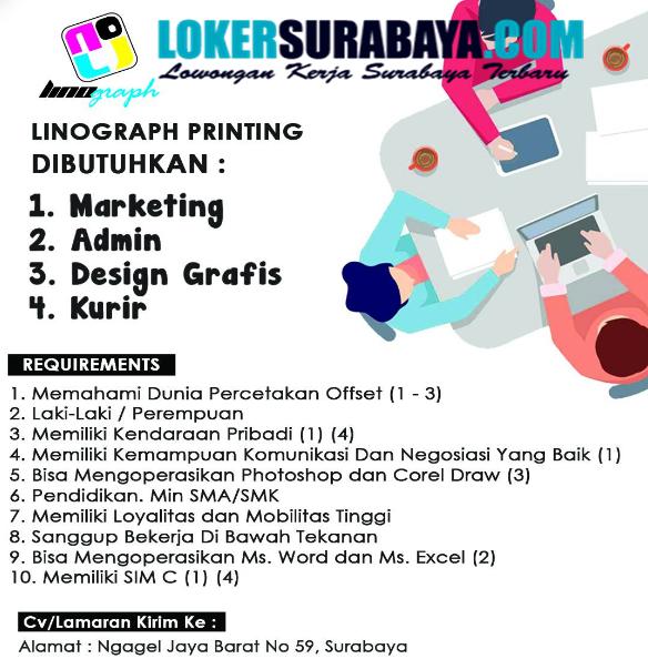 Bursa Kerja Surabaya Di Linograph Printing Oktober 2020 Lowongan Kerja Surabaya Januari 2021 Lowongan Kerja Jawa Timur Terbaru