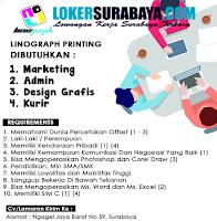Bursa Kerja Surabaya di Linograph Printing Oktober 2020