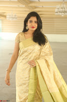 Harshitha looks stunning in Cream Sareei at silk india expo launch at imperial gardens Hyderabad ~  Exclusive Celebrities Galleries 021.JPG