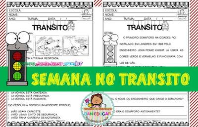 Atividades do Trânsito, educação no trânsito, PDF, para imprimir, Atividades de 1º ano, Atividades de 2º ano, atividades de educação infantil,