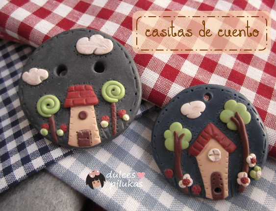 Broches Casitas de Cuento