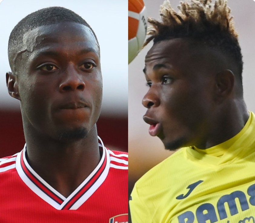 Chukwueze & Pepe cause argument on Tiwtter ahead of Europa League semi-final first leg in Spain
