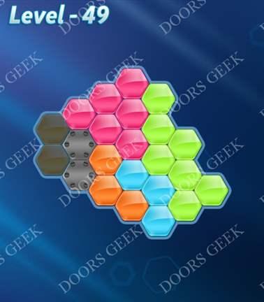 Block! Hexa Puzzle [5 Mania] Level 49 Solution, Cheats, Walkthrough for android, iphone, ipad, ipod