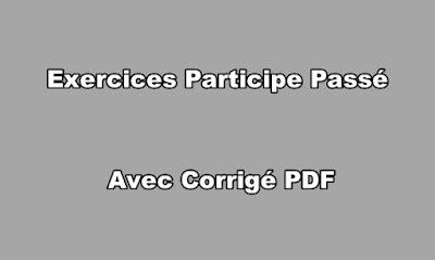 Exercices Participe Passé avec Corrigé PDF