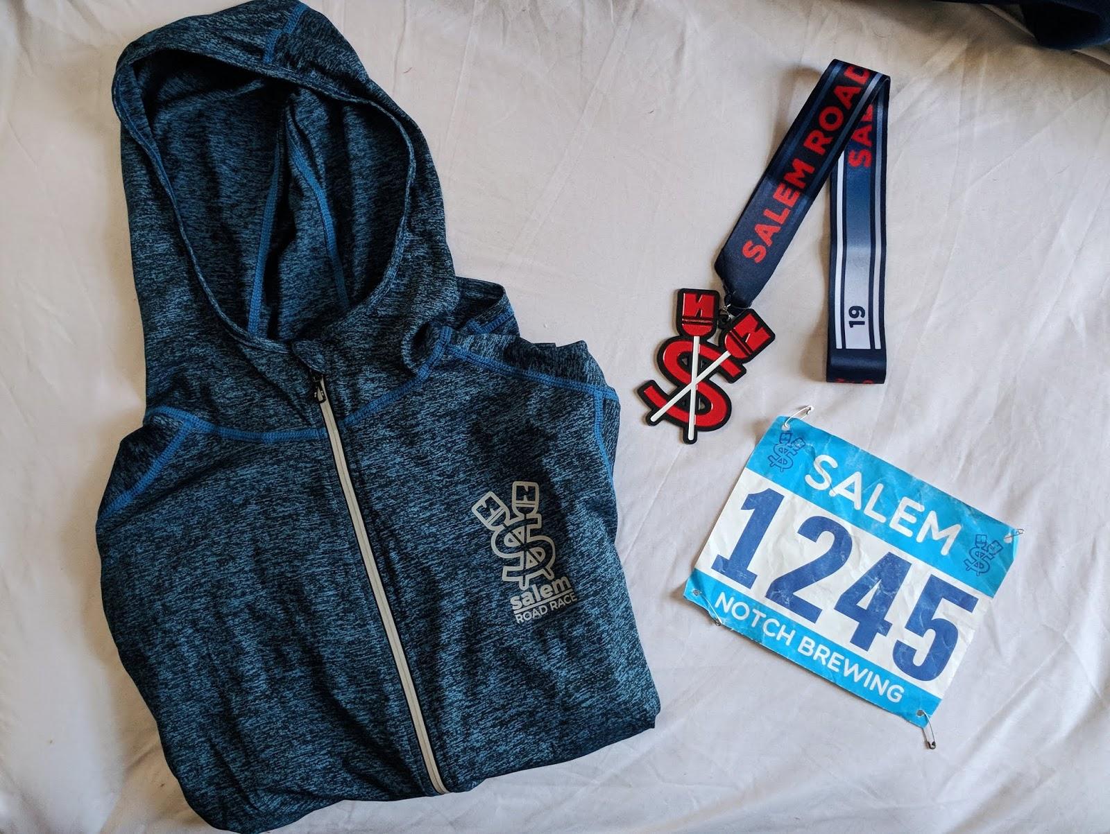 salem road race medal hoodie