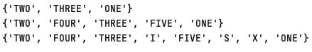 Set in Python