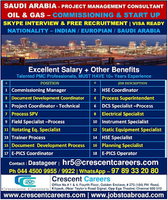Walk-in interview for gulf at chennai
