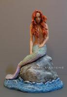 statuina personalizzata sirena cake topper a tema fantasy mare sirenetta orma magiche