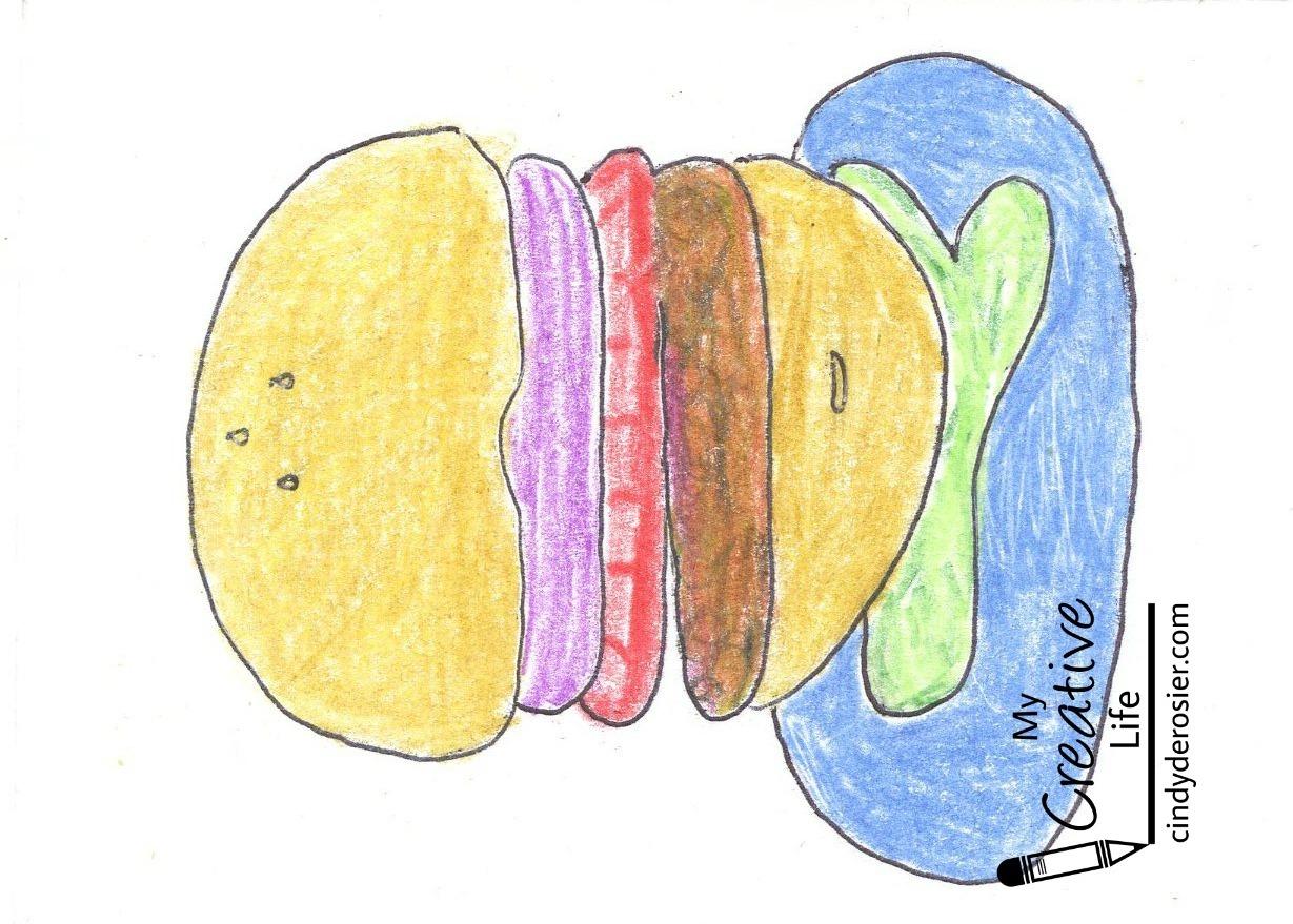 Name Art: Cindy DeRosier: My Creative Life: Hamburger Name Art