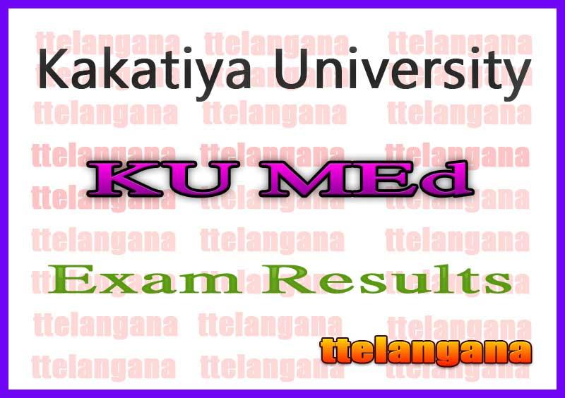 Kakatiya University MEd Exam Results