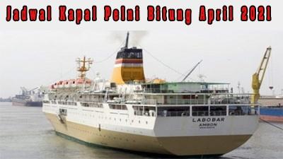 Jadwal Kapal Pelni Bitung April 2021