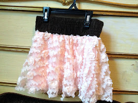 pink flower lace chiffon girls skirt