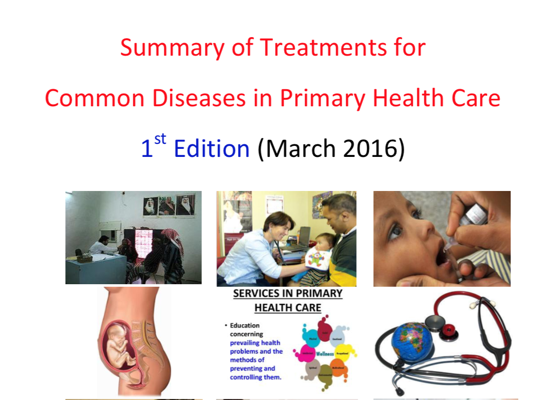 Summary of Treatments for Common disease in PHC