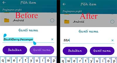 Rename android app