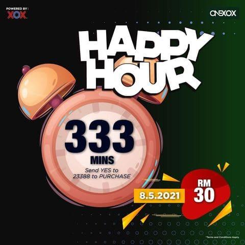 ONEXOX Happy Hour 333 Minit