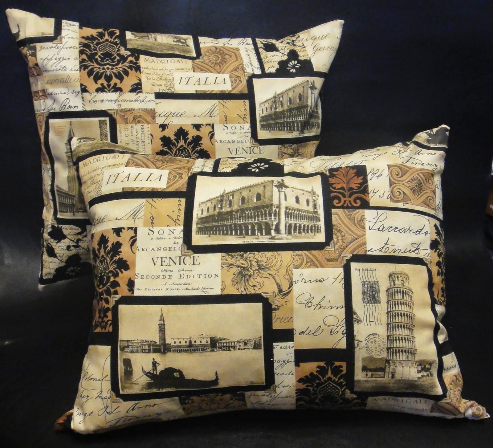 Диванные подушки на диван Итальянские достопримечательности: Рим, Милан, Венеция