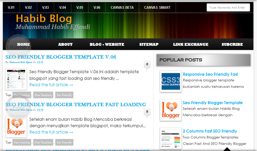100% SEO Friendly Blogger Template