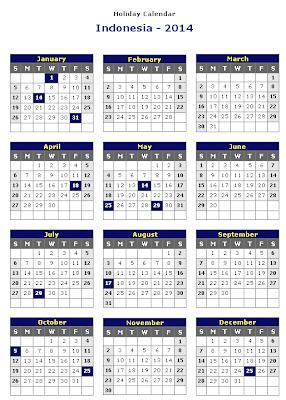 Kalender Tahun 2014