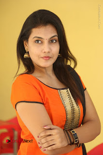 Telugu Actress Chandana Stills in Salwar Kameez at Karam Dosa Movie Press Meet  0060.JPG