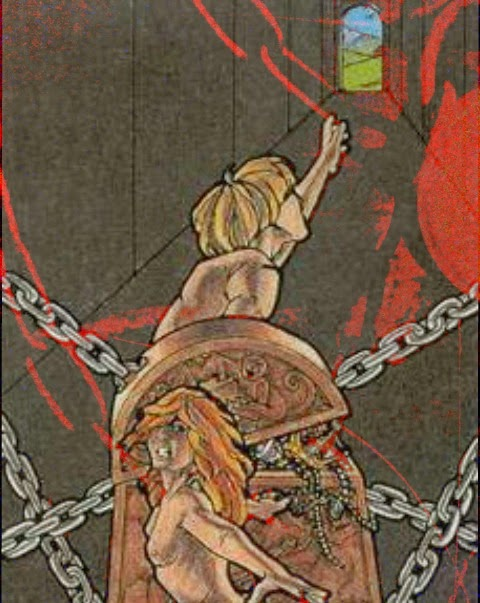 the devil tarot chains