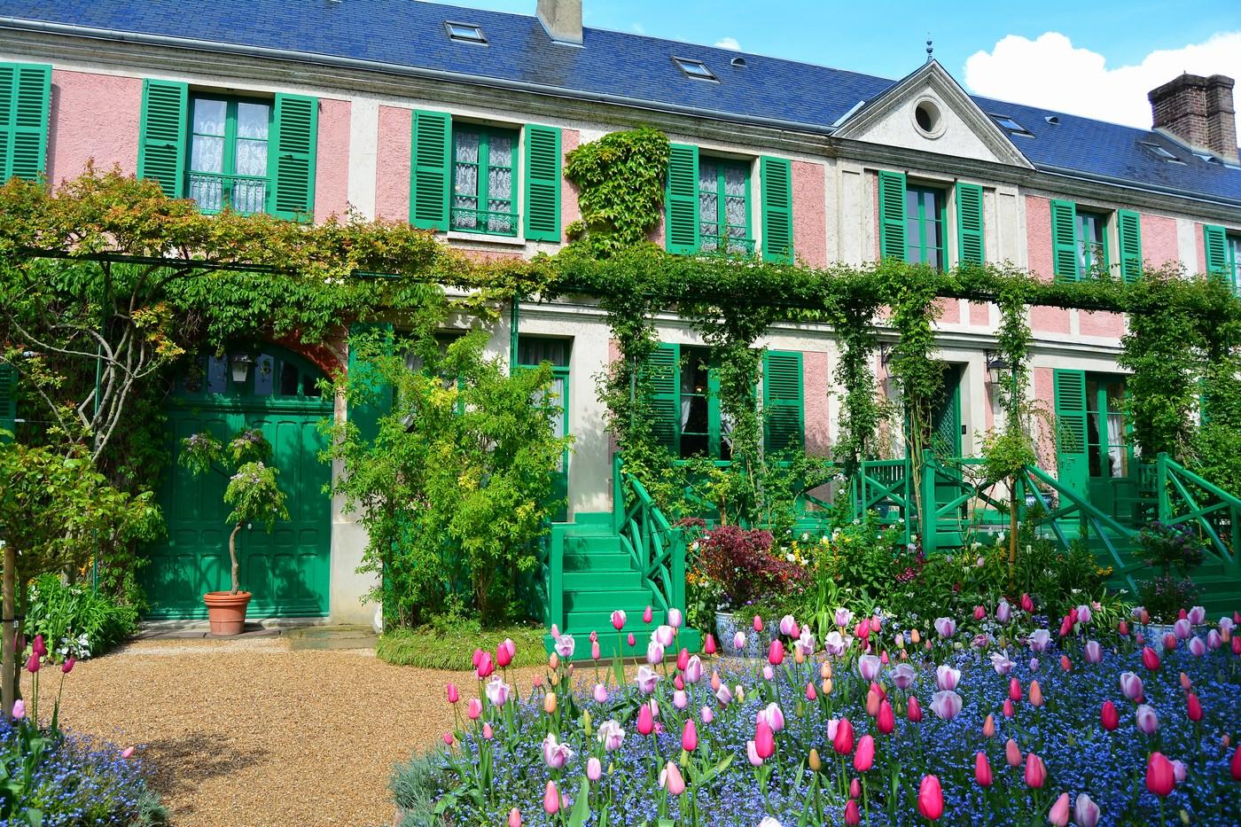 Façade avant de la maison donnant sur le clos Normand.