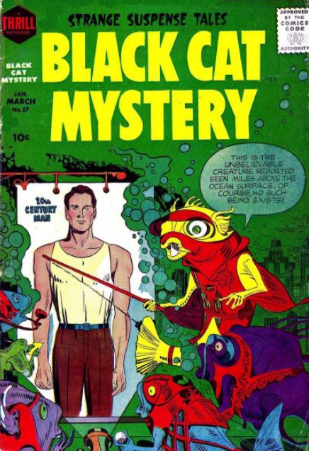 Kirby Black Cat Mystery Harvey Comics
