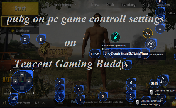 Pubg Pc Control Settings On Tencent Gaming Buddy ~ Play Pubg