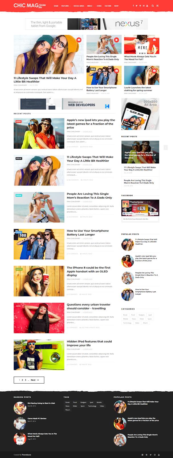 ChicMag Blogger Template