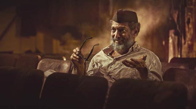 Nana Patekar as Thespian Ganpat Ramchandra Belwalkar in Mahesh Manjrekar's Natsamrat