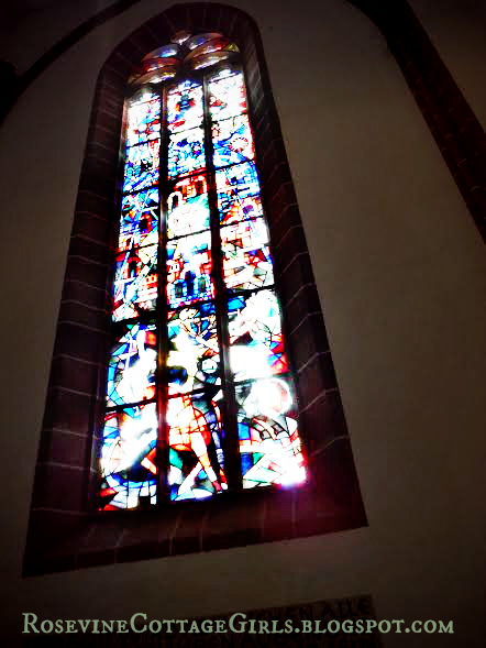 Stained Glass Window In Saint Marien's Church