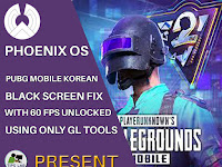 How To Fix PUBG Mobile Korean Black Screen in Phoenix OS with 60 FPS Unlocked