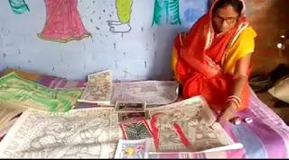 madhubani-usha-devi-state-award-nomitation-madhubani-painting