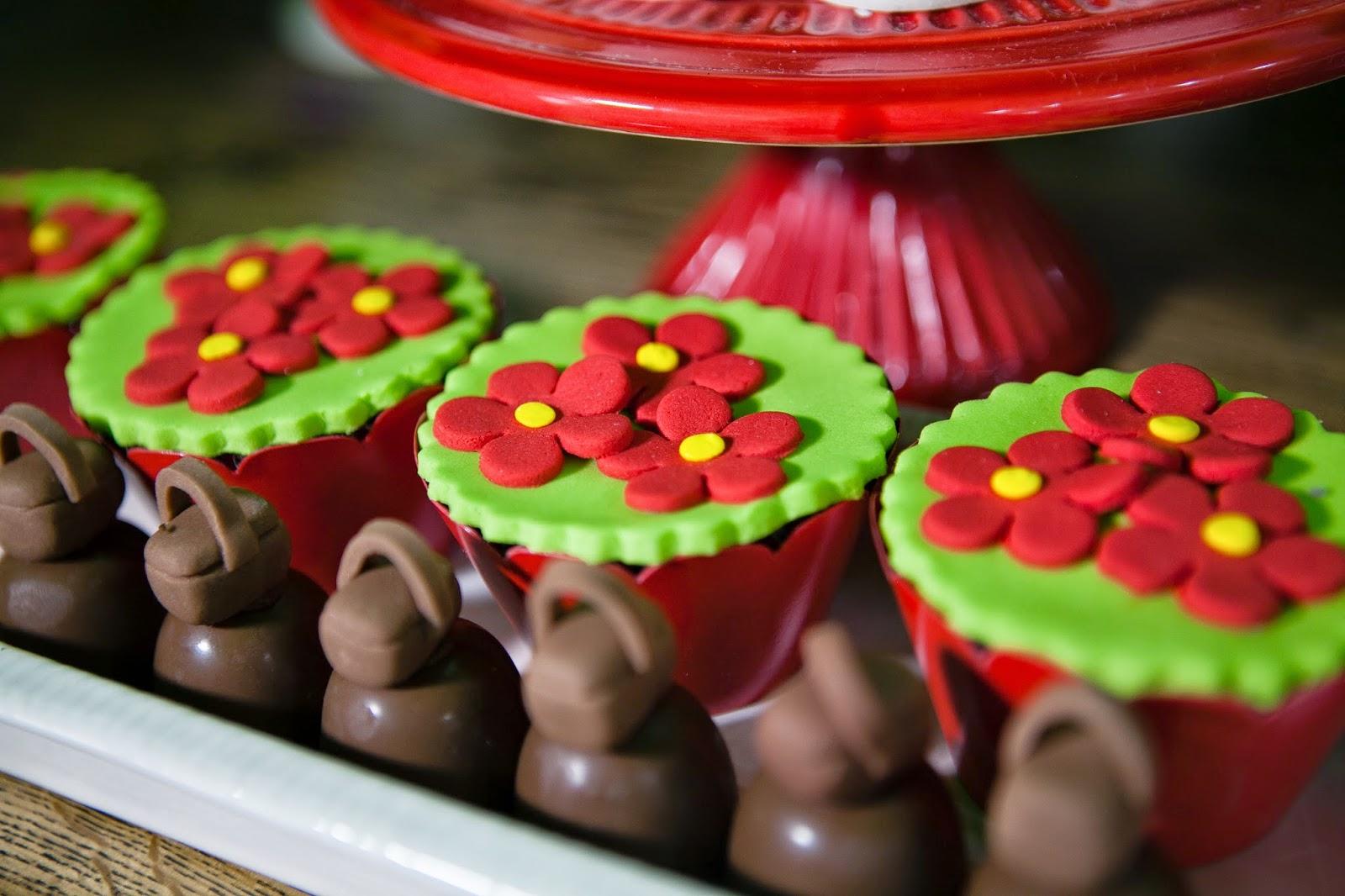 cupcakes chapeuzinho vermelho
