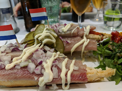 Sandwich at Viswinkel Visch in Den Bosch.
