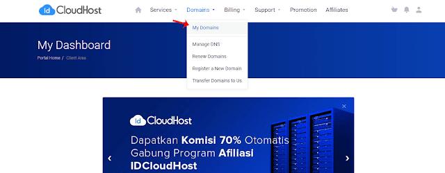 Login ke Client Area IDCloudHost