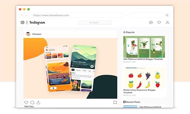 Instagram Responsive Blogger Template