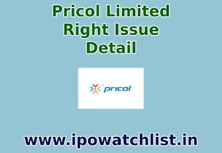 Pricol Limited Right issues