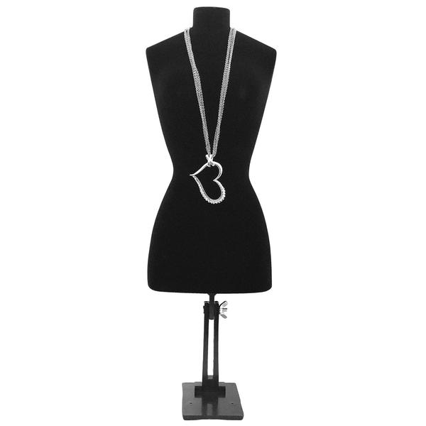 Shop Wholesale Flocked Plastic Necklace Bust with Stand at Nile Corp