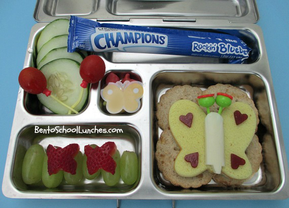 Butterfly bento school lunch