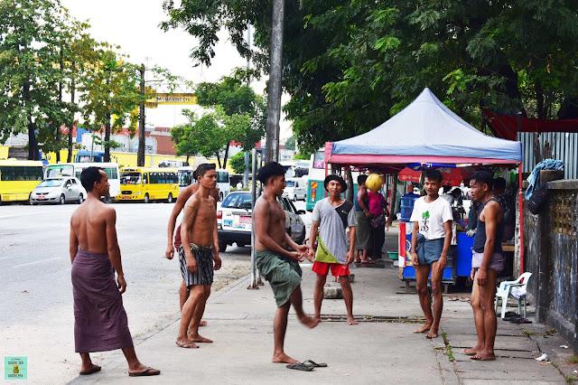 Chinlone, deporte nacional de Myanmar