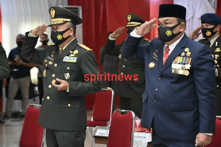 Danrem 141/Toddopuli Brigjen TNI Djashar Djamil. S.E,.M.M menghadiri virtual Upacara Peringatan Hari Kesaktian Pancasila Tahun 2020