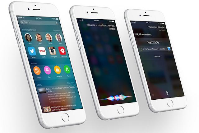 Gambar tampilan kecanggihan Siri pada iOS 9 terbaru