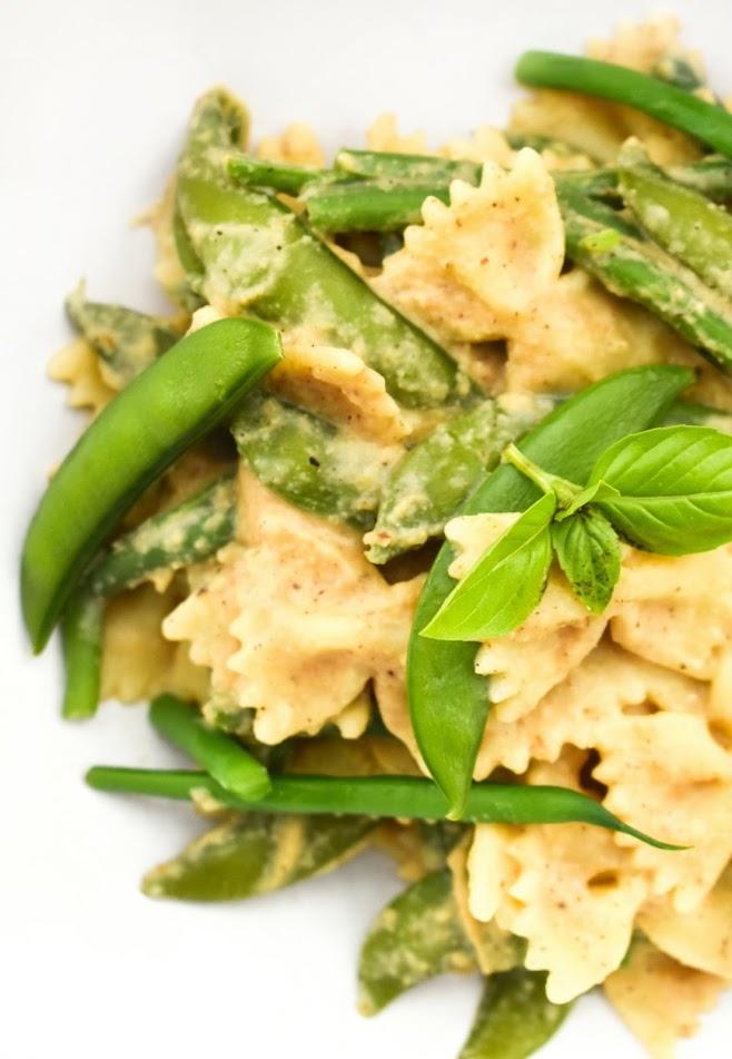 a close up of cauliflower pasta