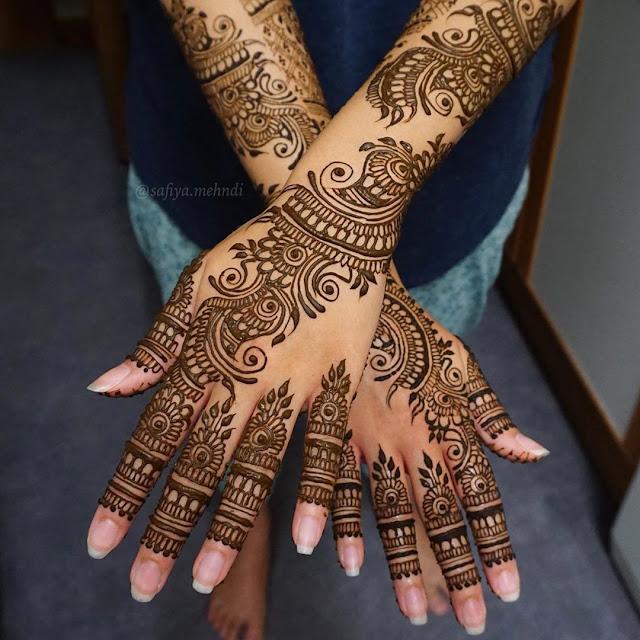 Bridal Mehndi or Henna Designs for Full Hands