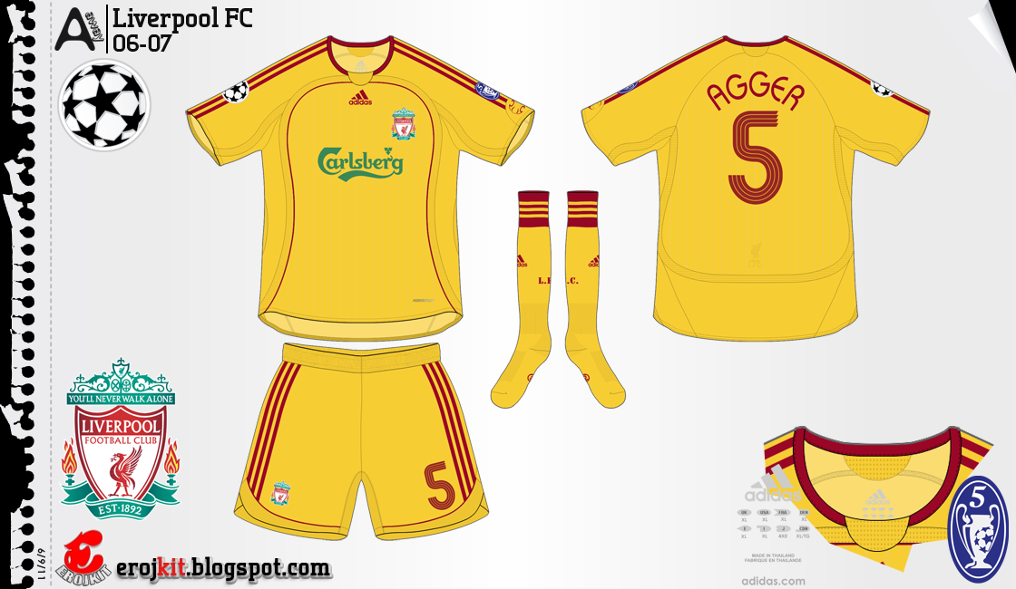 Kit Design By Eroj 2006 08 Liverpool Home Away E Third