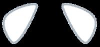 獣耳のイラスト(白キツネ3)